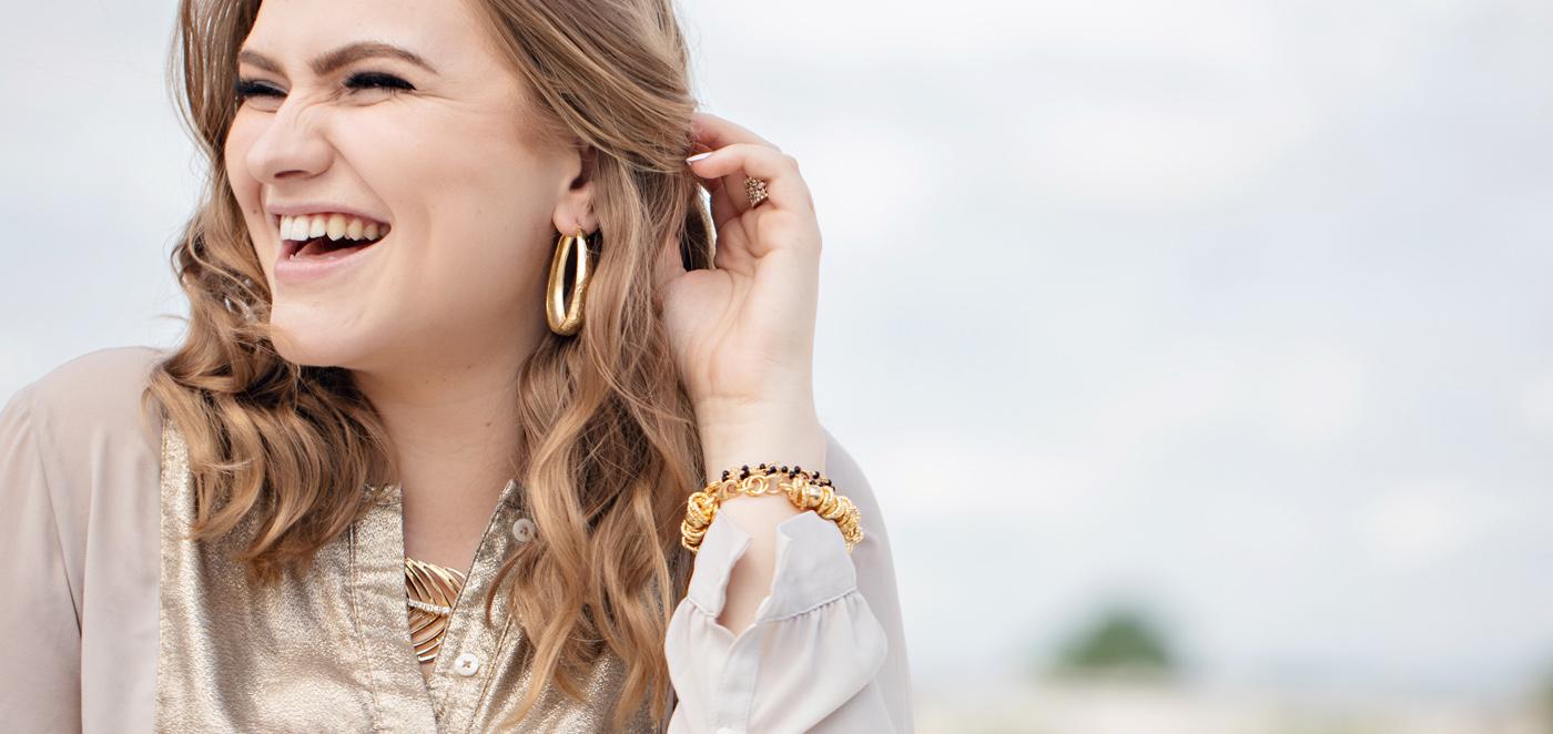 Bold Gold Tone Jewelry